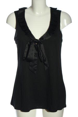 New York & Company ärmellose Bluse schwarz Casual-Look