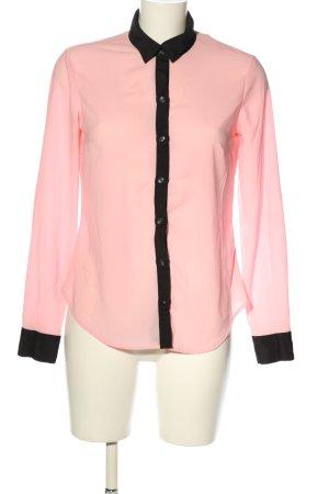 New York & Company Transparenz-Bluse pink-schwarz Casual-Look
