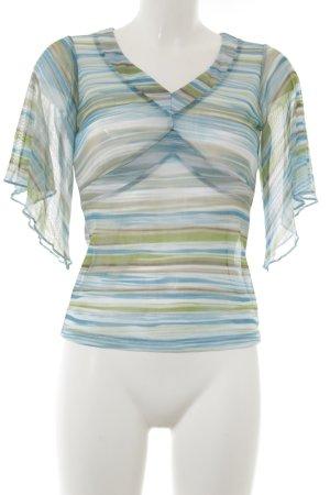 New York & Company Transparenz-Bluse Streifenmuster Transparenz-Optik