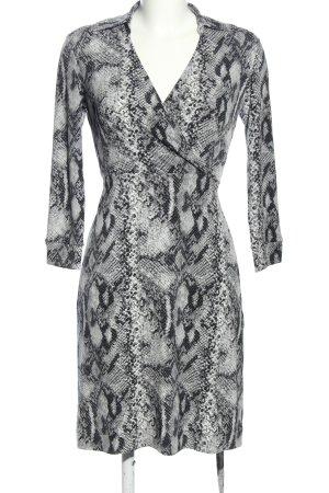New York & Company Vestido cruzado gris claro-negro elegante