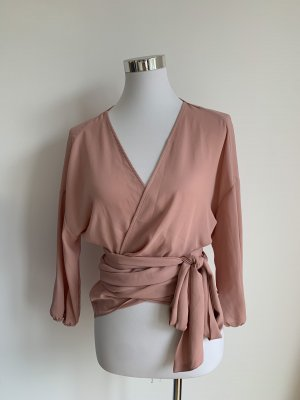 New York & Company Wickeltop Bluse xs 34 rosa