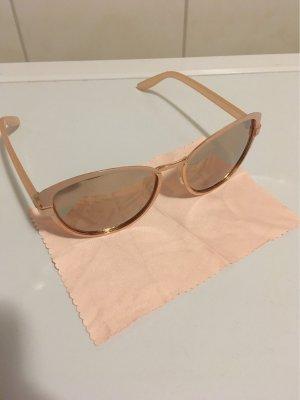 Okulary motylki w kolorze różowego złota-złoto
