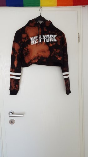 New Yorker Maglione twin set nero-marrone