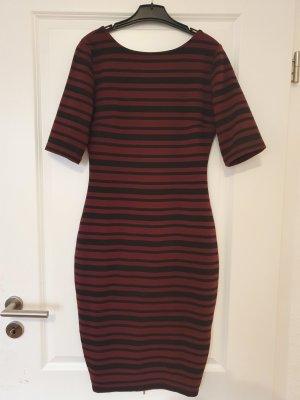 new Yorker Amisu kleid jerseykleid top Zustand Bordeaux schwarz