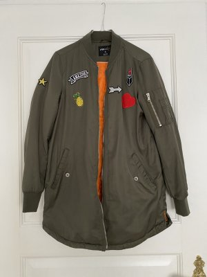 New Yorker Bomberjacke lang statement patches S