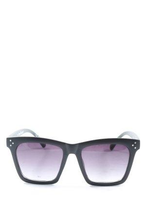 New Yorker Gafas de sol cuadradas negro look casual