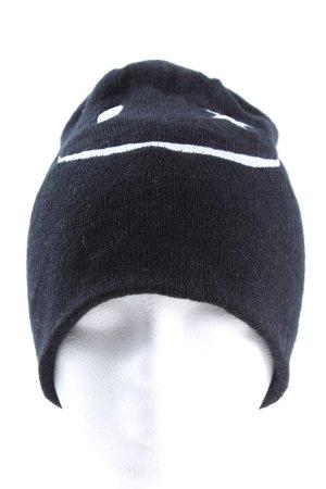 New Yorker Cappello a maglia nero-bianco Stampa a tema stile casual
