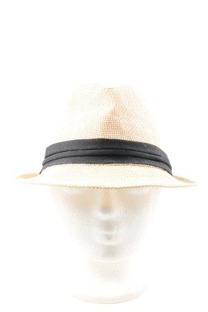 New Yorker Straw Hat cream-black casual look
