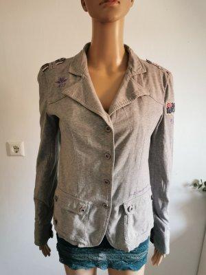 New Zealand Auckland Jersey Blazer light grey-mauve cotton