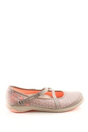 Sandales confort gris clair imprimé allover style décontracté