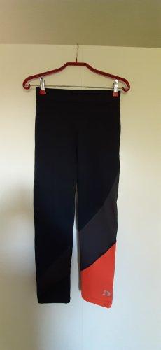 Newline 7/8-Leggings Sporttight Lauftight schwarz grau orange Gr. M