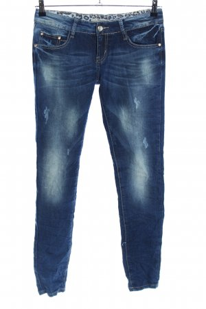 Newplay Hüftjeans blau Motivdruck Casual-Look