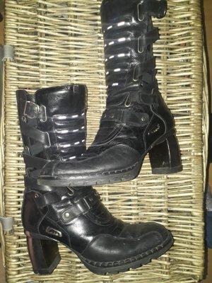 New rock Combat Boots black