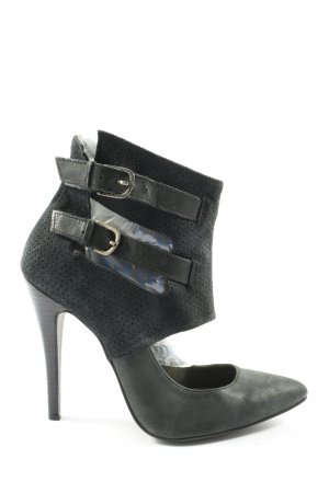 Next Stivaletto cut out nero elegante