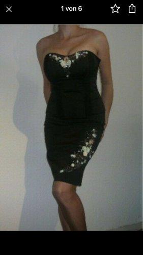 Next Damen Abend Kostüm wie Kleid Schwarz Stickerei