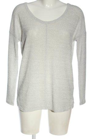 Next Fine Knit Jumper light grey-silver-colored flecked elegant