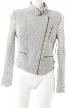Next Fleecejacke hellgrau Karomuster Casual-Look