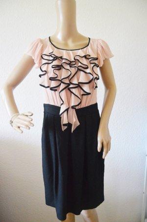 Next kleid gr.12 rosa-schwarz