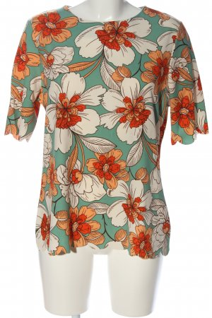 Next Kurzarm-Bluse Allover-Druck Casual-Look