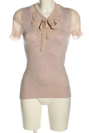 Next Kurzarm-Bluse pink-creme meliert Casual-Look