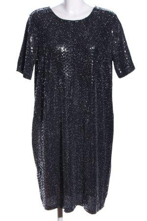 Next Kurzarmkleid schwarz-silberfarben Elegant