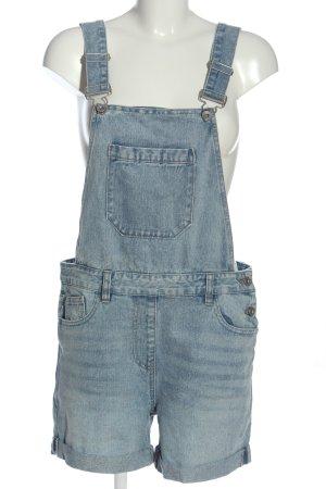 Next Pantalón corto tipo peto azul look casual