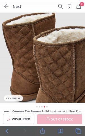 Next - Leder Flat winter Boots