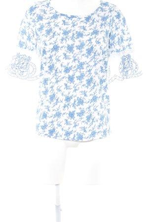 Next Longsleeve weiß-kornblumenblau Blumenmuster Casual-Look