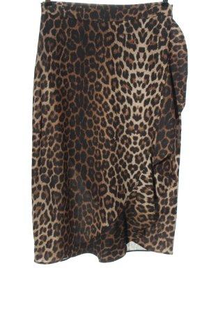 Next Flounce Skirt brown-natural white allover print elegant