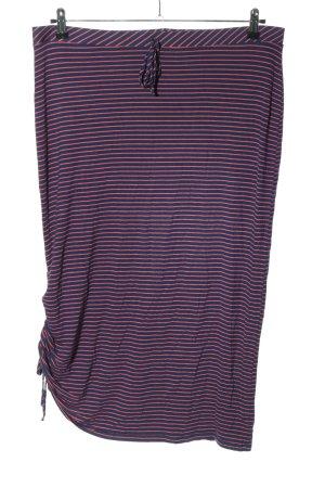 Next Midi Skirt blue-pink striped pattern casual look