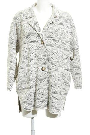 Next Oversized Jacke wollweiß-schwarz grafisches Muster Casual-Look