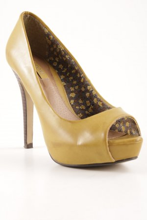 Next Peeptoe Pumps dunkelgelb Party-Look