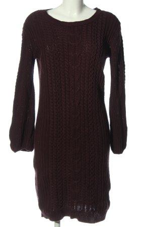 Next Pulloverkleid rot Zopfmuster Casual-Look