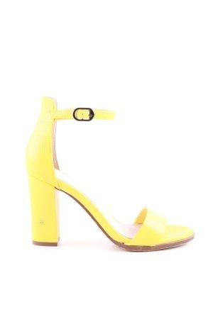 Next Riemchen-Sandaletten blassgelb Casual-Look