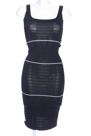 Next Tube Dress black-white striped pattern casual look
