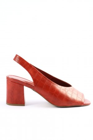 Next Slingback-Pumps rot Animalmuster Business-Look