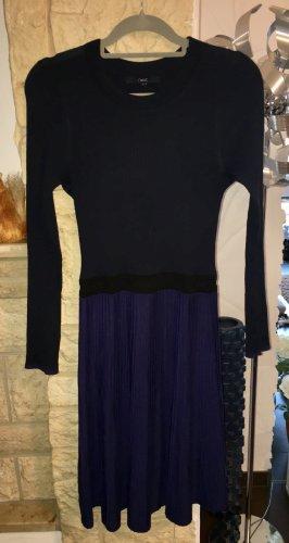 NEXT Strickkleid blau-schwarz Gr. 10 - sexy Schnitt - NP 60€