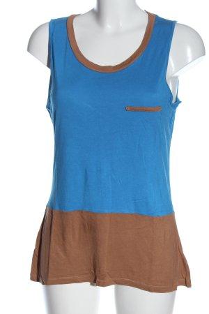 Next Canotta blu-marrone stile casual