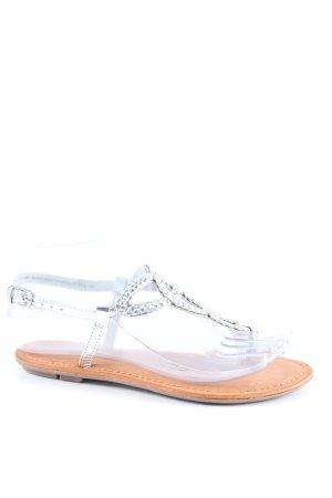 Next Zehentrenner-Sandalen silberfarben-braun Casual-Look