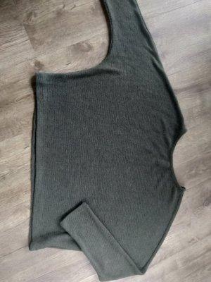 Hailys Sweter bez rękawów z cienkiej dzianiny ciemnoszary Wiskoza