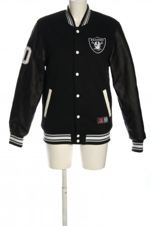 NFL Team Apparel College Jacket black-white printed lettering casual look