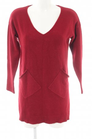 NGS V-Ausschnitt-Pullover rot Casual-Look