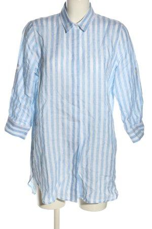 NH made in Europe Hemdblusenkleid blau-weiß Streifenmuster Casual-Look