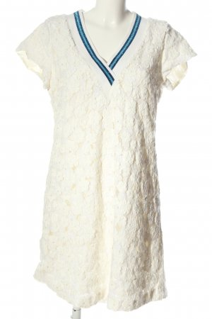 NH made in Europe Mini Dress white-blue striped pattern casual look