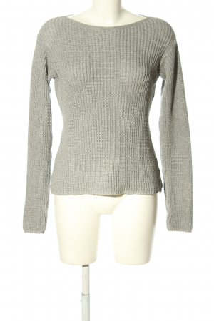 NH Nadine H Strickpullover hellgrau Zopfmuster Casual-Look