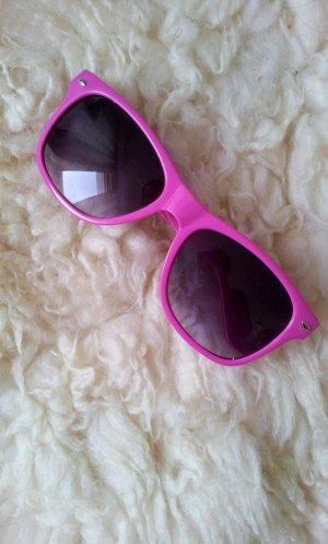 Nhow Sonnenbrille in Pink / Grau-Schwarz, Farbverlauf, UV400