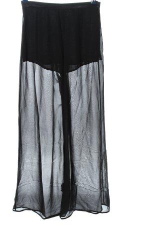 nic janik Falda pantalón de pernera ancha negro look casual