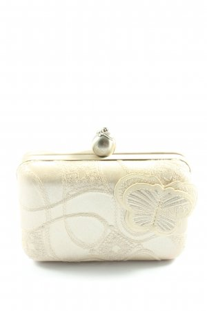 Nica Torebka portmonetka w kolorze białej wełny Elegancki