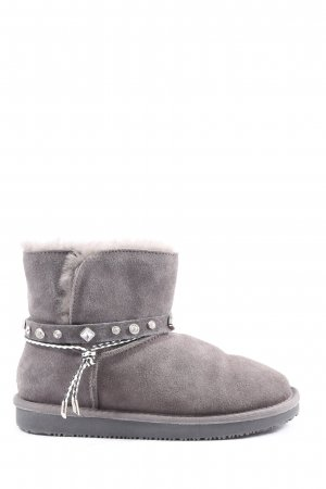 nice bay Slouch Booties light grey-lilac casual look