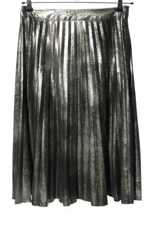 Nice & Chic Plisowana spódnica srebrny Elegancki